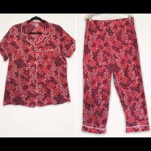 Liz Claiborne Floral Street Print Pajama Set